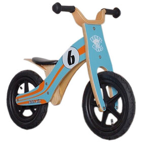 "Rebel Kidz Wood Air loopfiets Kinderen 12"" Le Mans oranje/turquoise"